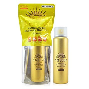 Gold Anessa Perfect UV Spray Aqua Booster - Shiseido Anessa Sunscreen  Review: Perfect Sunscreen  vs. Essence Sunscreen