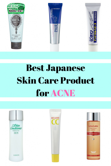 Japanese skin care products for acne