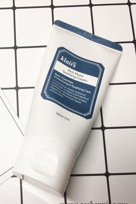 Review:Klairs Rich Moist Soothing Cream-Korean Skincare