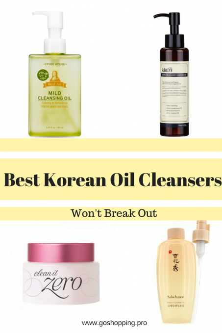 Best Korean Oil Cleansers That Won't Break You Out