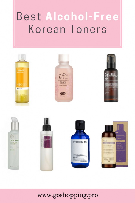 best alcohol-free Korean toners